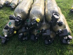 2003 H 30 Scba Compressed Air Tank Cylinder 4500 Psi Msa Good Condition