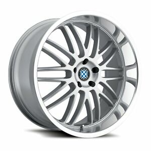 20 Inch Bmw Wheels Rims 528 535 540 Beyern Mesh Staggered Silver 5x120 Lugs