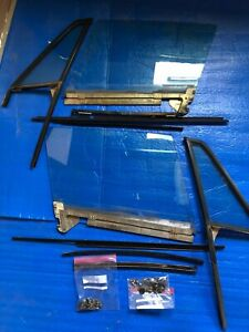 Porsche 911 930 Door Frame Glass Window L R Moldings Set Up Tested W Seals Targa