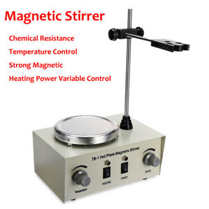 79 1 1000ml Hot Plate Magnetic Stirrer Lab Heating Mixer Temperature Speed