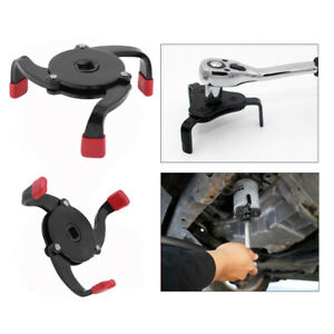 Us Car Portable 3 Jaw Oil Filter Wrench Adjustable Spanner Remover Universal