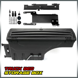 Passenger Side Lockable Truck Bed Storage Box Toolbox For 15 2019 Ford F 150