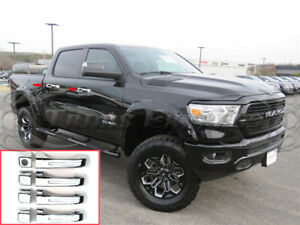 Fit 2019 2021 Dodge Ram 1500 4 Door Handle Covers Chrome No Smart Key