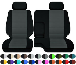 Cotton Blend Car Seat Covers Fits 95 00toyota Tacoma Front Bench 60 40 Seats 2hr