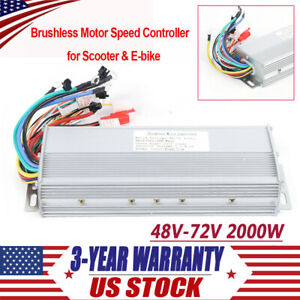 2000w 48 72v Electric Bicycle E bike Scooter Brushless Dc Motor Speed Controller