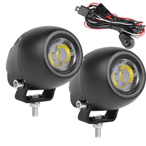 2x Offroad Car Cree Led Work Lights Spotlight Driving Fog Pods Round 4wd wiring