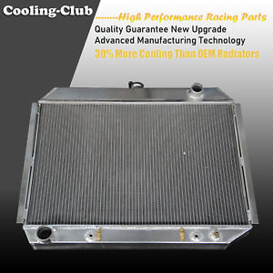 Fit 68 74 Dodge Charger Plymouth Mopar V8 Big Block 3 Row Aluminum Radiator 375