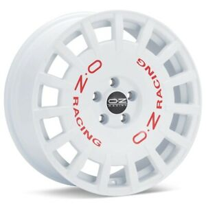 O z Rally Racing 17x8 5x114 3 Et45 White 4 Wheels