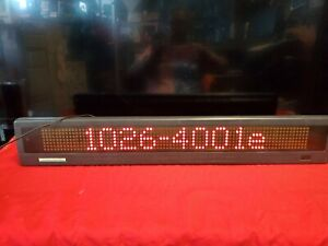 Ams Adaptive Micro Systems Beta Brite Led Sign Moving Message display Only