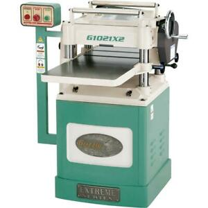Grizzly G1021x2 15 3 Hp Extreme Series Planer W Helical Cutterhead