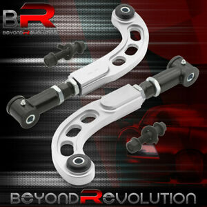05 10 Scion Tc Ant10 Cnc Adjustable Front Bolts Rear Camber Arm Rod Set Silver