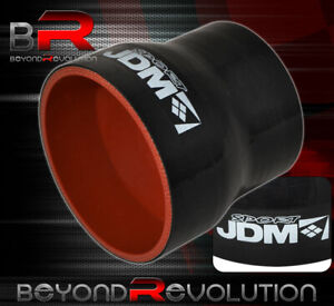 Black Red 2 To 2 5 Straight Silicone Coupler Hose Intercooler Upgrade