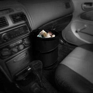 Auto Car Trash Can Portable Collapsible Waterproof Small Black