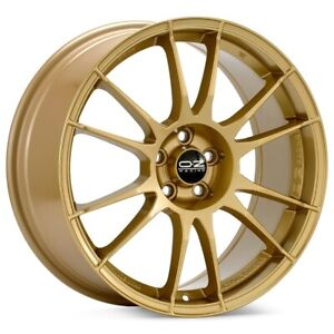 O z Racing Ultraleggera 17x8 5x114 3 Et48 Gold 4 Wheels