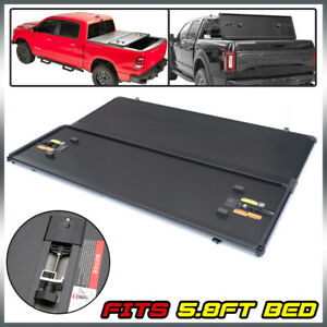 For 2004 07 Silverado Sierra 5 8ft Bed Hard Top 3 fold Tonneau Cover Replacement