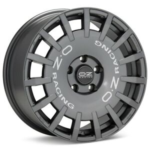 O z Rally Racing 17x8 5x100 Et48 Dark Graphite 4 Wheels