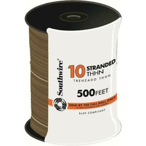 Southwire Single Conductor Electrical Wire 500 Ft 10 gauge Waterproof Copper