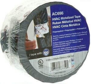 Ipg Ac698 Hvac Metal Repair Aluminum Foil Tape 2 83 X 120 Yds New