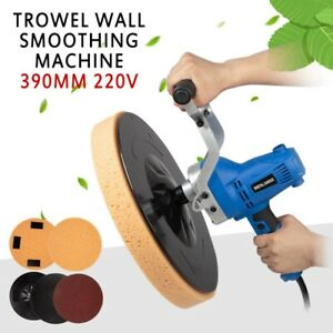 220v Electric Concrete Epoxy Cement Mortar Trowel Wall Smoothing Machine 390mm