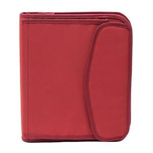 New Member s Mark 3 Ring 1 5 Binder With Zipper Red Fast Free Shipping