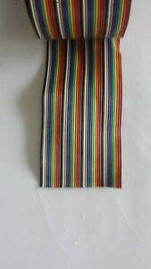 8ft 40 Way Flat Color Rainbow Multicolor Ribbon Cable Wire 28 Awg