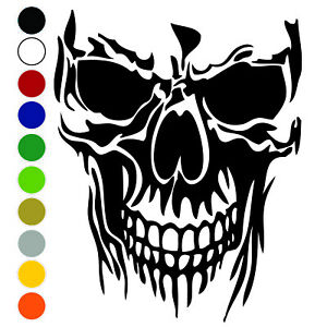 Skull Vinyl Decal Sticker For Car Truck Helmet Bumper Wall Window Laptop
