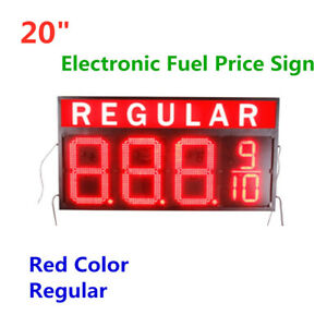 20 Wireless Red Color Led Gas Station Electronic Fuel Price Sign Motel Sign
