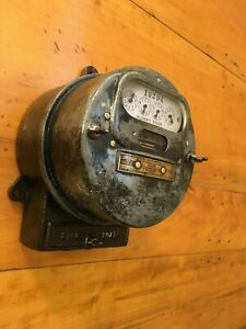 Antique vintage Electric Meter 1896 1921 Extremely Cool Steampunk Real Thing