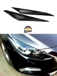 Eyelids Eyebrows For Mazda 3 2013 2016 Headlights Covers Eyelash Bi xenon Only