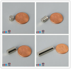 N52 6mm 1 4 dia Rare Earth Neodymium Magnetic Cylinder Rod Magnets