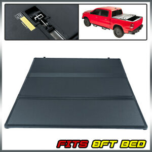 Tri Fold Hard Tonneau Cover For Dodge Ram 1500 2500 3500 8ft Long Bed 2002 2018