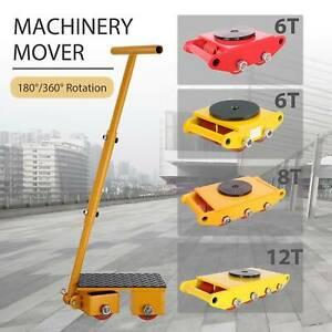 Machinery Mover Industrial Dolly Skate Cast Steel Roller 360 Rotation 6t 8t 12t