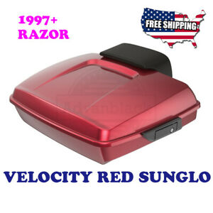 Us Stock Velocity Red Razor Tour Pak Black Hinges For Harley Touring 14 20