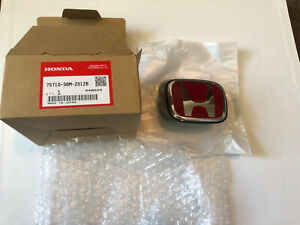 Honda Oem Dc5 Type R Front H Emblem And Holder Genuine Rare Nos Integra B92p Jdm