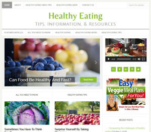 new Design Healthy Eating Affiliate Website Business For Sale Auto Content