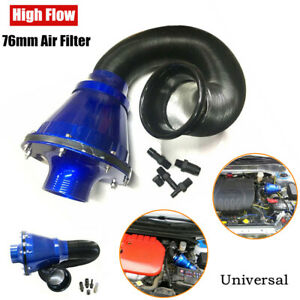 Car Universal Modified 76mm High Flow Air Filter Cold Air Inlet Cleaner Mushroom