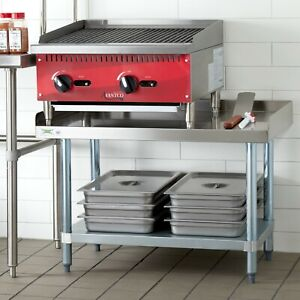24 X 36 Stainless Steel Table Commercial Heavy Equipment Mixer Grill Stand New