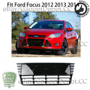 Front Bumper Grill Fit Ford Focus 2012 2013 2014 Mesh Grille Replacement Abs