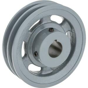 Grizzly G6275 Double V groove Pulley 5 Pitch Dia 1 Bore