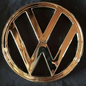 1973 1979 Type 2 Vw Bus Front Nose Emblem Chrome 7