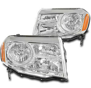For 2012 2013 2014 2015 Honda Pilot Halogen Chrome Replacement Headlights Lamps