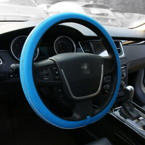 15 Car Truck Steering Wheel Cover Universal Fit Protection Hand made M Blue