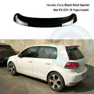 Paint Black Rear Tailgate Roof Top Spoiler Wing Fit For Vw Golf Mk6 2010 2014