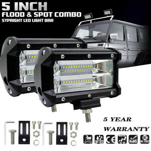 2 5 inch 6000k Led Work Light Bar Flood Combo Pods Driving Off road Tractor 4wd