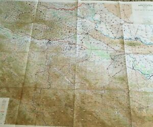 Large Rare Vintage Us Army Topographic Wall Map 1960 S The Balkans Brod Beograd