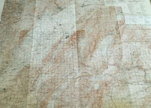 Large Rare Vintage Us Army Topographic Wall Map 1960 S Asia Damascus Moussa Ler