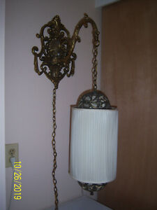Solid Brass Morton Hollywood Regency Wall Light Sconce 1940 S