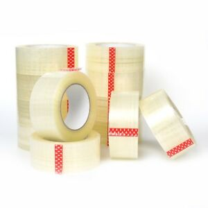 6 12 24 36 72 Rolls 2 In X 110 Yards 2 Mil Premium Clear Sealing Package Tape