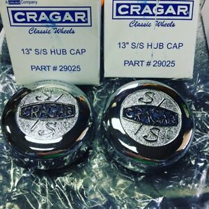 Nos Ss Cragar Center Caps Pair Of 2 fit 13 Only 29025 Part Number Pinto Vega