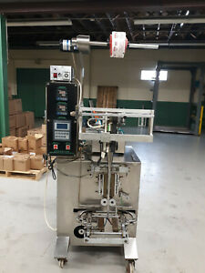 Liquid Pouch Packet Filling Machine With Coder